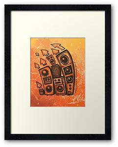 Contemporary music art prints by Scottish contemporary artist Andy Peutherer