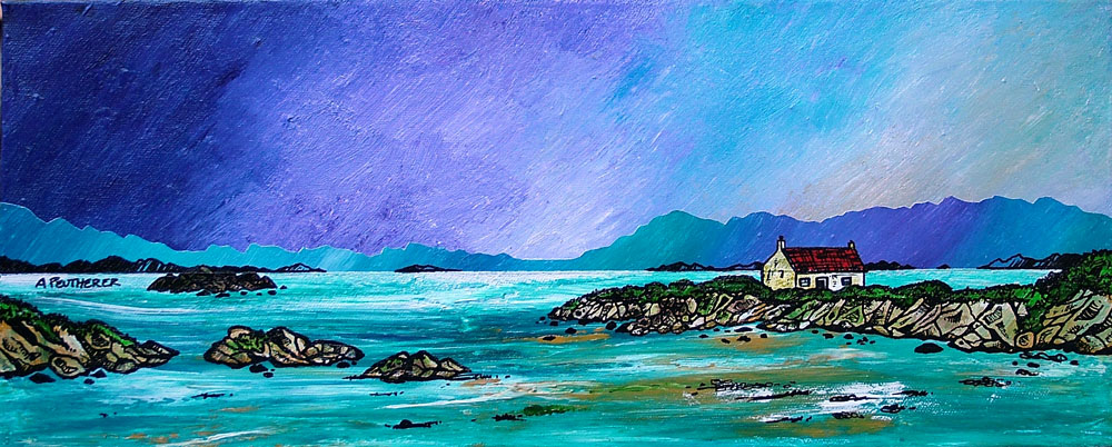 Scottish painting & prints of  Barra, Hebrides, Scotland