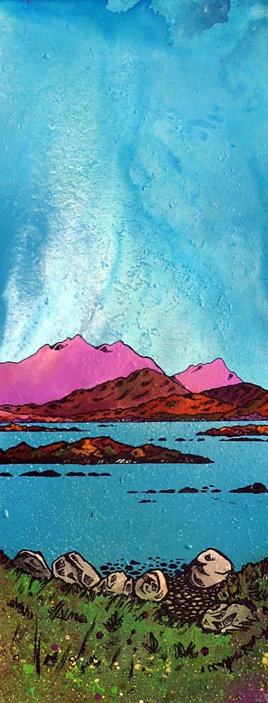 Scottish painting and prints of Loch Druidibeag, South Uist, Hebrides, Scotland