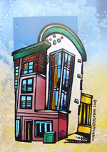 Contemporary abstract painting of  Modern Flat, Byres Rd, Glasgow, West end