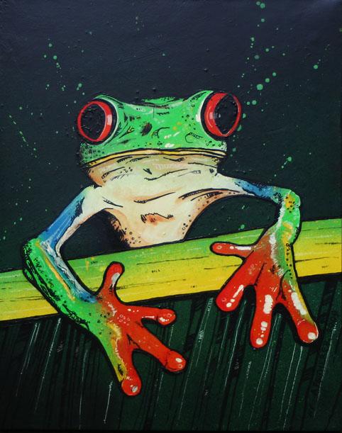 Acrylic Painting Tree Frog