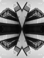 Abstract photograph by Andy Peutherer. Cadgoan Security Cameras, Cadogan Square, Anderston, Glasgow, Scotland.