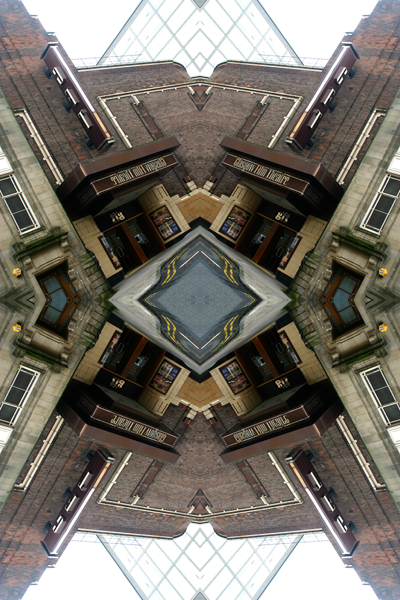 Abstract photography print of  he Glasgow Film Theatre (GFT), Glasgow.