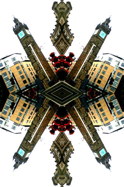 Abstract photography print of Tolbooth Steeple X, Glasgow