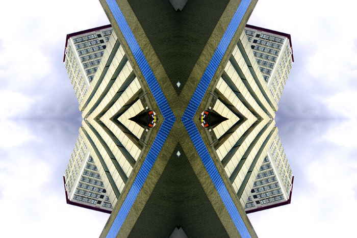 Abstract photography print of Multi storey.2, Car Park , Glasgow.