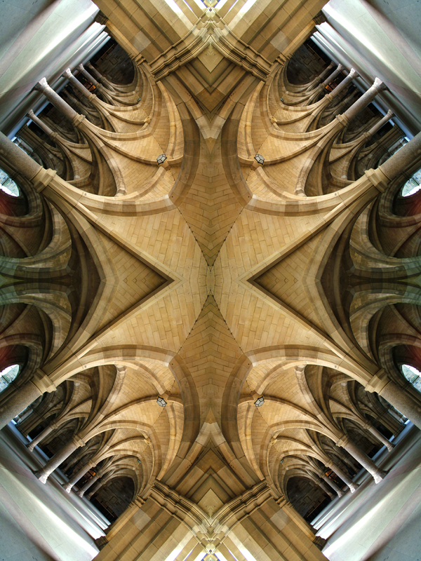 Abstract photography print of  Glasgow university Cloisters