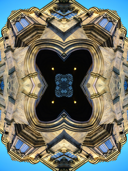Abstract photography print of  Glasgow university Arch