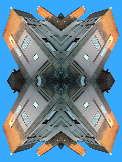 Abstract photography print of  Glasgow university Mackintosh Building