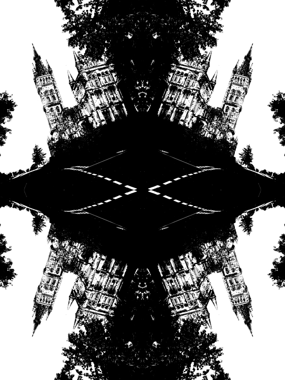 Abstract photography print of  Glasgow university