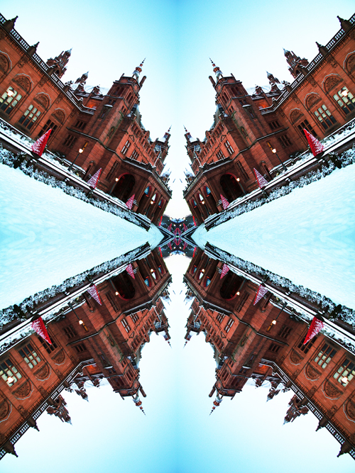 Abstract photography print of  Glasgow's Kelvin Grove Museum And Art Gallery