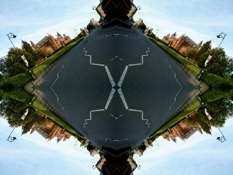 Abstract photography print of  Glasgow's Kelvin Grove Museum And Dumbarton Road
