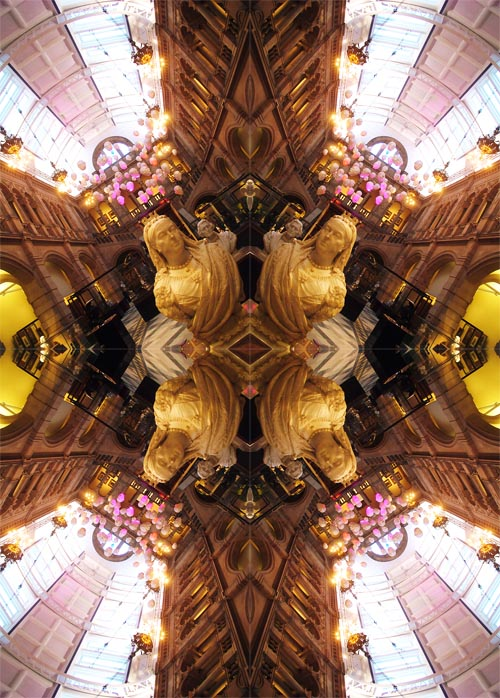 Abstract photography print of  Mary Queen Of Scot's, Kelvingrove Museum and Art Gallery, Glasgow, Scotland.