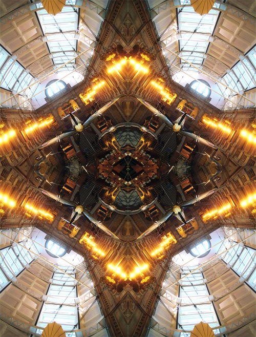 Abstract photography print of  Spitfire 2 X, Kelvingrove Museum and Art Gallery, Glasgow, Scotland.