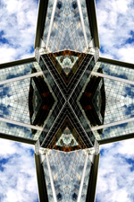 Abstract photography print of Skypark.1, Office Building , Glasgow, River Clyde.