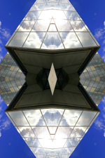 Abstract photography print of Skypark.4, Office Building , Glasgow, River Clyde.