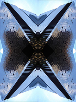 Abstract photograph by Andy Peutherer. Space Foil, Office Building, City centre, Glasgow. Scotland.